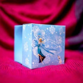 Invitatie de botez tip cutiuta cu Frozen 133 LARA BABY - BEST
