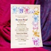 nvitatie de botez cu ursuleti colorarti 138 LARA BABY