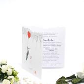 Invitatie de nunta haioasa cu baloane in forma de inimioare 140005 TBZ