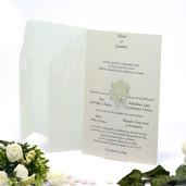Invitatie de nunta cu calc vernil 150008 TBZ