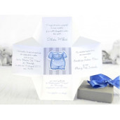 Invitatie de botez tip cutiuta 15512 DELUXE