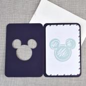Invitatie de botez tip pasaport cu Mickey Mouse 15705 DELUXE