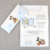 Invitatie de botez cu Mickey Mouse 15719 DELUXE