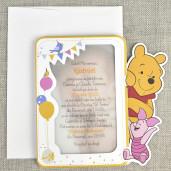 Invitatie de botez cu poza si Winnie the Pooh 15729 DELUXE