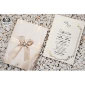 Invitatie texturata cu fundita 19302 ARMONI
