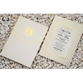 Invitatie cu bordura si detalii aurii 19303 ARMONI