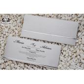 Invitatie eleganta argintie 19309 ARMONI