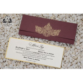 Invitatie burgundy cu detalii aurii 19321 ARMONI