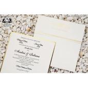 Invitatie delicata cu detalii aurii 10352 ARMONI
