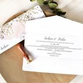 Invitatie de nunta plic boho cu frunze 39760 ECONOMIQ