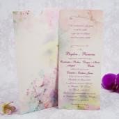 Invitatie de nunta model acuarela 20184 STYLISH
