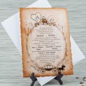 Invitatie de nunta pergament chic 20421 STYLISH