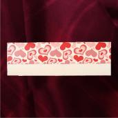 Invitatie de nunta crem cu inimi visinii, rosu si roz pal 2102 TBZ