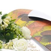 Invitatie de nunta cu tema de toamna cu frunze 2134 TBZ
