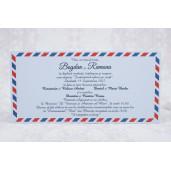 Invitatie de nunta carte postala cu plic 2183 STYLISH