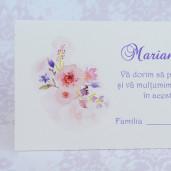 Plic pentru bani crem cu flori roz 222614 POLEN