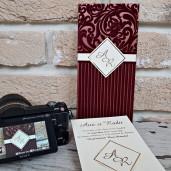 Invitatie de nunta cu catifea 2696 POPULAR
