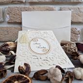 Invitatie de nunta brodata eleganta 2734 POPULAR