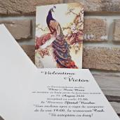 Invitatie de nunta 2765 cu pauni POPULAR