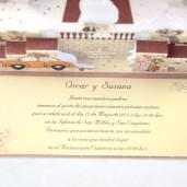 Invitatie 3D haioasa cu miri si model floral 32416 EMMA