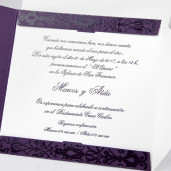 Invitatie eleganta mov 32812 CLARA