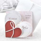 Invitatie cu inimioara romantica 32826 CLARA