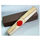 Invitatie rustica tip pergament 328302 CLARA