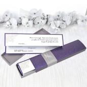 Invitatie pliabila violet 39208 CLARA