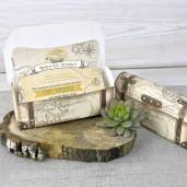 Invitatie 3D vintage tip cufar de calatorii 39308 EMMA