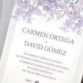 Invitatie cu tema florala 39320 EMMA