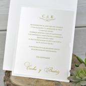 Invitatie eleganta cu tema florala dantelata 39321 EMMA