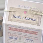 Invitatie 3D tip valiza de calatorie 39339 EMMA
