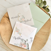 Invitatie de nunta moderna cu flori acuarela 39770 ECONOMIQ