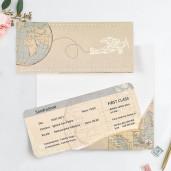 Invitatie bilet de avion 39704 CLARA