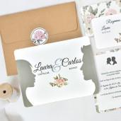 Invitatie florala tip carte postala 39741 CLARA