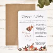 Invitatie de nunta moderna cu flori 39785 ECONOMIQ