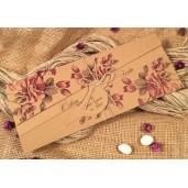 Invitatie natur cu motiv floral 52524 ELA