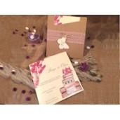 Invitatie dantelata cu fluture 52561 ELA