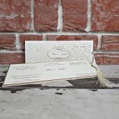 Invitatie de nunta cu decupaje florale 5572 CONCEPT