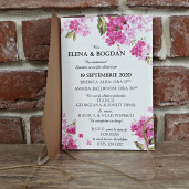 Invitatie de nunta cu flori si butucel 5590 CONCEPT