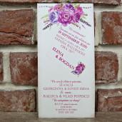 Invitatie de nunta rustica florala 5593 CONCEPT