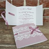 Invitatie de nunta cu panglica si dantela 5594 CONCEPT