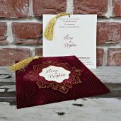 Invitatie de nunta cu plic de catifea 5596 CONCEPT