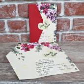 Invitatie de nunta cu flori 5602 CONCEPT