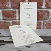 Invitatie de nunta cu fundita si flori de mac 5604 CONCEPT