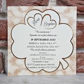 Invitatie de nunta cu trifoi 5612 CONCEPT