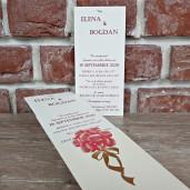 Invitatie de nunta crem florala 5614 CONCEPT