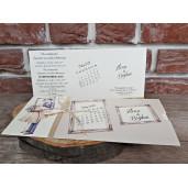 Invitatie de nunta retro cu miri 5616 CONCEPT
