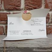 Invitatie de nunta cu floricele si fundita 5622 CONCEPT