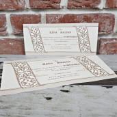 Invitatie de nunta in stil baroc 5639 CONCEPT